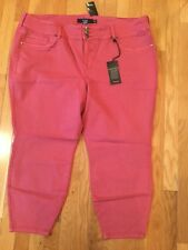 New NWT Torrid Jegging Plus Size 28 XS Extra Short Red Skinny Jeans