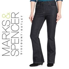 M&S size 8 10 Slim Fit Denim Bootleg Jeans Stretch Bootcut Light or Dark New