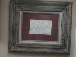 LUIS SAHAGUN. 5 X 7 VISTAS. CHARCOAL ON PAPER. MEXICAN ART.