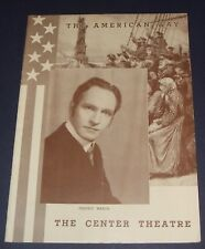 1939 Center Theatre Souvenir Playbill Frederic March in The American Way