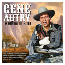 Gene Autry DEFINITIVE COLLECTION Best Of 50 Cowboy Songs ESSENTIAL New 2 CD