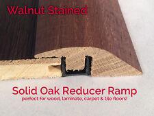 Real Solid Oak Ramp For Wood Floor Profile Trim Door Threshold Bar WALNUT STAIN
