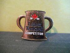 Canadian Labatt Tankard Curling Lapel Pin 1990,Competitor