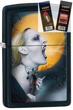 Zippo 28435 screaming vampiress Lighter with *FLINT & WICK GIFT SET*