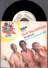 """FAITH HOPE & CHARITY YOU'RE MY PEACE OF MIND + LIFE GOES ON 1976 RCA ITALY 7"""" 45"""