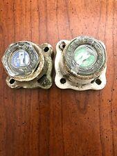 2 Vintage Porcelain Fuse Holders With Crystal Fuses 1 30amp 1 15amp