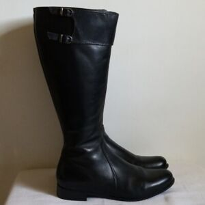 La Canadienne Black Leather Riding Boots Knee High Size 7.5