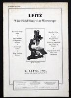 1931 Antique LEITZ Binocular MICROSCOPE & ACCESSORY Catalog Brochure & PRICES