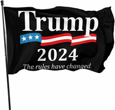 New listing Donald Trump 2024 President Flag 3x5ft The Rules Have Changed Save America Again