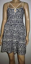 DOROTHY PERKINS Blue Cream Strappy Cut Out  Summer Beach Dress Size 10