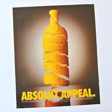ABSOLUT Citron / Advert Anuncio Publicite Pubblicita Reklame Vodka Wodka Appeal