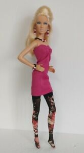 Model Muse Barbie Clothes DRESS, STOCKINGS AND JEWELRY HM Fashion NO DOLL d4e