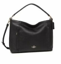 NWT COACH SCOUT MEDIUM HOBO, PEBBLED LEATHER, SHOULDER PURSE, 24770, BLACK