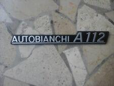 Scritta posteriore Autobianchi A112 1975 1976
