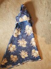 New Patio Umbrella Cover Blue with Cream and White Hydrangea Print