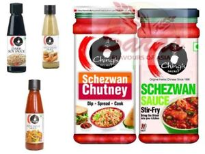 Chings Lovers Selections: Schezwan Chutney & Sauce/Red Chilli & Green Chilli