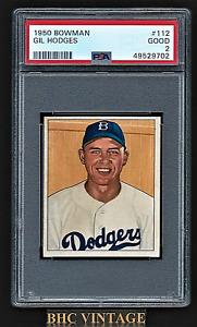 1950 Bowman Gil Hodges #112 PSA 2 Good