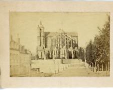 France Le Mans La cathédrale  Vintage Albumen Print Tirage albuminé  9x12