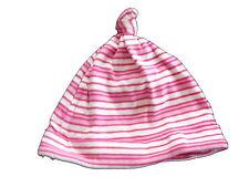 Dolli tolle Mütze KU 46 cm rosa-weiß geringelt !!