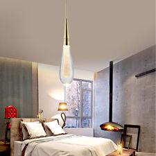 US LED Crystal Ceiling Chandelier Fixtrue Rain Drop Lamps Bedroom Pendant Lights