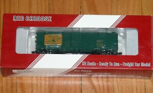 RED CABOOSE RR-37160-5 ARA X-29 BOXCAR WITH PLATE ENDS MAINE CENTRAL MEC 5136