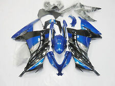 Black w/ Blue Fairing For Kawasaki Ninja 300 EX300 2013 2014 Plastic Injection