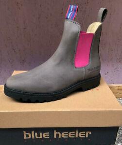 Blue Heeler Jackaroo, Boots, Stiefeletten, Chelseaboots, grau / pink, B-Ware