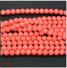 """New 4mm Natural pink Coral Gemstone Loose Round Spacer Beads 15"""""""