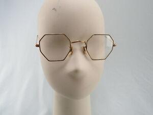 "Antique ""DOO Co""? ""DCO Co""? 1/10 12K Gold Filled Octagon Eyeglasses w/ Case"