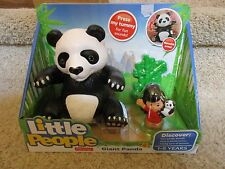 Fisher Price Little People NEW Zoo Animal sounds Big Panda Bamboo Giant Anne toy