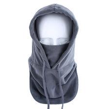 New Gray Thermal Balaclava Hood Outdoor Ski Winter Windproof Face Mask Hat US