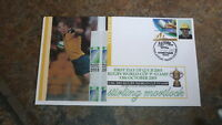 2003 AUSTRALIAN RUGBY WORLD CUP P STAMP FDC, STIRLING MORTLOCK WALLABIES