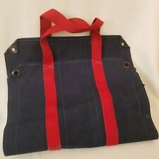 Vintage The Levi'S Tailor Shop Canvas Carrier Log Tote Camping Cabin Fire Xmas