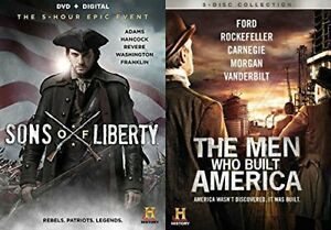 The Men Who Built America Documentary DVD & Sons of Liberty DVD Set New