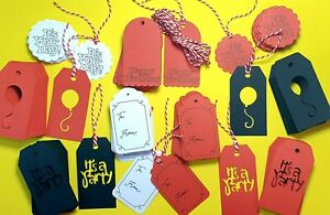 10/25/50/100 Birthday Gift Tags Party Wedding Valentine day Scallop Label Blank