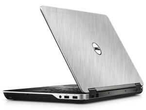 BRUSHED ALUMINUM Vinyl Lid Skin Cover fits Dell Latitude E6540 Laptop