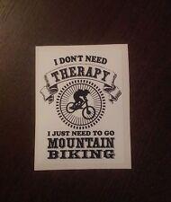 SANCTUARIES EDGE 12CM FUNNY THERAPY MOUNTAIN BIKING BIKE STICKER DECAL CYCLING