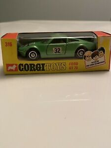 Ford GT 70 - Vintage 1/43 Corgi Toys 316 Great Britain Mint Rare Scarce Mettoy
