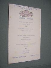 REGENT ADVERTISING CLUB ANNUAL DINNER MENU. 1936. PUBLIC SPEAKING SECTION.