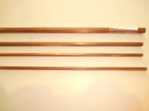 Vintage Gene Edwards bamboo fly rod building blank. 8' - 3 pc. - 5 wt. flamed.