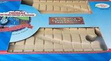 "6 1/2"" SINGLE CURVED SWITCH TRACK Thomas Engine Wooden Clickity-Clack Track NEW"