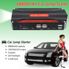 68800mAh 2V Car Auto Jump Starter Emergency Power Charger Booster Bank Battery