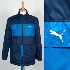 Da Uomo Vintage Anni'80 Puma Mantella Rain Jacket Mod Indie Festa Kagoul CASUALS S