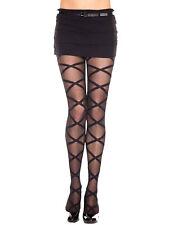 73e94d6c2 Luxury Divas Nylon Black Hosiery   Socks for Women for sale