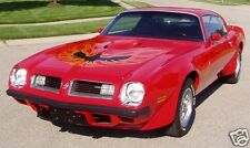 1975 Pontiac Firebird TRANS AM, RED, Refrigerator Magnet, 40 MIL
