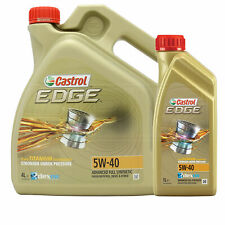 Castrol EDGE TITANIUM 5W-40 Synthetic Engine Oil 5W40 - 5 LITRES (4L + 1L)