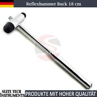 Reflexhammer nach Buck Nadel und Pinsel Sensibilitätsnadel sehr hochwertig 18 cm