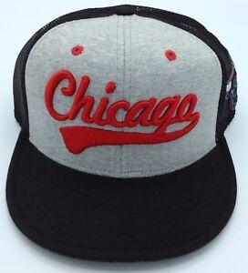NBA Chicago Bulls Adidas Adult Half Mesh Adjustable Fit Cap Hat Beanie NEW!