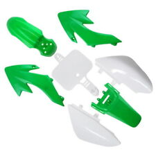 GREEN WHITE PLASTIC FENDER KIT XR50 CRF50 50 STYLE SDG SSR DIRT BIKE I PS08W