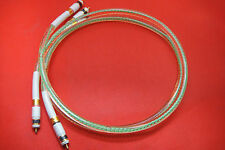 80% silver Oil-injected Silver Interconnects Home Audio CD Player RCA Cable 1m